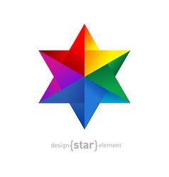 Origami rainbow Star vector