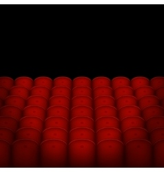 Red Cinema or Theater Seats with Black Blank vector image