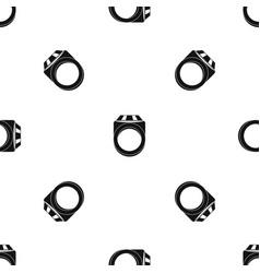 ring pattern seamless black vector image