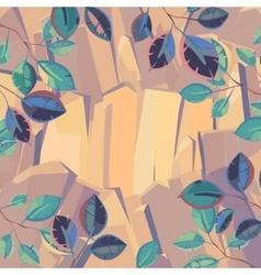 rock through the foliage vector image