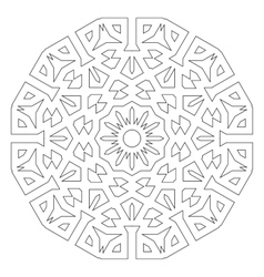 Round decorative pattern Lace circle design vector