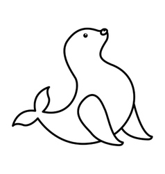 Seal animal isolated icon design vector