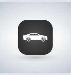 sedan car model over black app icon vector image