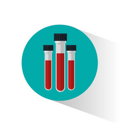 set blood test tube donation vector image