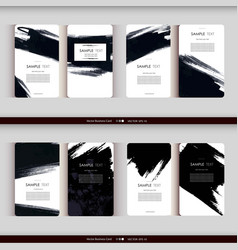 set business card templates vector image
