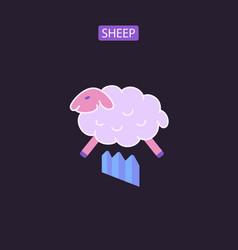 sheep flat icons vector image