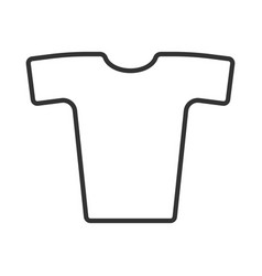 Simple image of t-shirts in fine lines on a white vector
