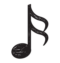 Sketch of a musical note vector
