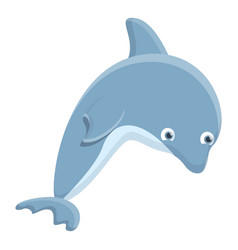 smart dolphin icon cartoon style vector image
