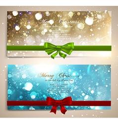 Sparkling Christmas Banner Set vector