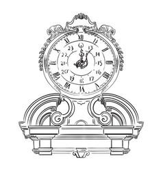 Stone clock vector