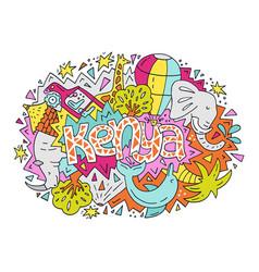 The bright kenya symbols vector
