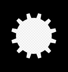 the frame is monochrome in the form of a gear vector image