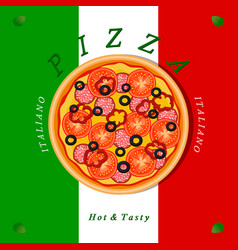 The sweet pizza vector