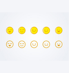 user experience feedback emoticons vector image