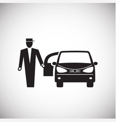 wedding car icon on white background for graphic vector image