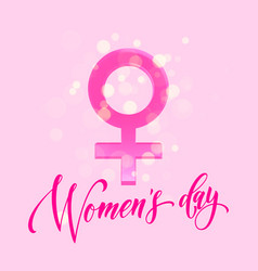 women day venus sign greeting card flower vector image