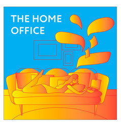 Working from home concept for vector