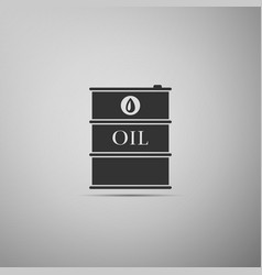 Barrel oil flat icon on grey background vector