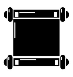 old scroll parchment icon simple style vector image