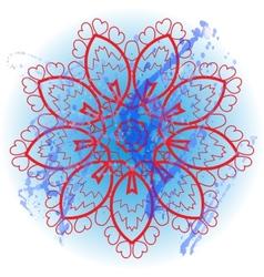 Oriental mandala motif What is karma vector image vector image
