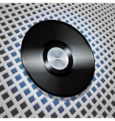 Vinyl record with metallic centre on lattice vector