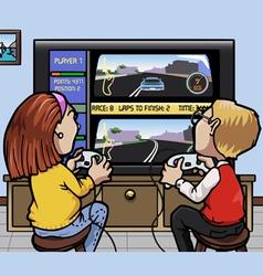 car racing videogames vector image vector image