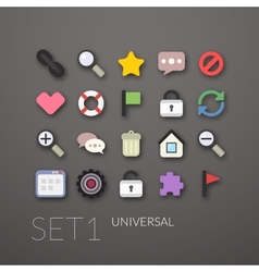 Flat icons set 1 vector image vector image