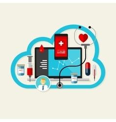 online cloud medical health internet medication vector image