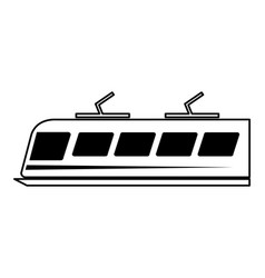 tram silhouette isolated icon vector image vector image