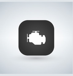 car engine icon isolated on app button trendy vector image