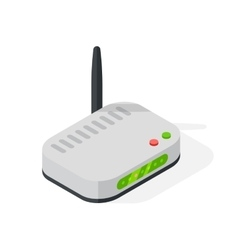 Isometric wi-fi modem router isolated vector image