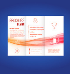 bright wave pattern abstract brochure layout vector image