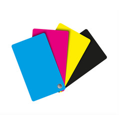 cmyk palette abstract sheets of paper in cmyk vector image vector image