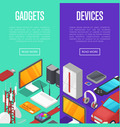 gadgets and computer devices set vector image vector image