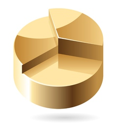 Isometric icon of gold chart vector image
