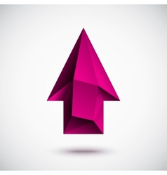 3d magenta up arrow vector