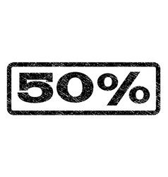 50 percent watermark stamp vector