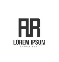 ar logo template design initial letter logo design vector image