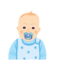 Baby boy with pacifier vector