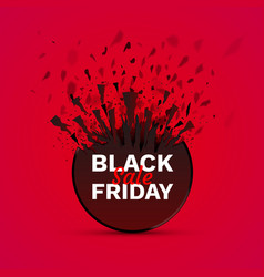 black friday big sale seasonal banner sales vector image