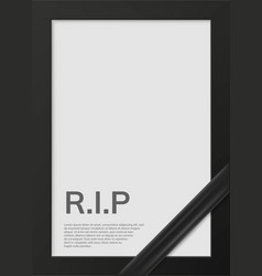 Blank mourning frame for sympathy card vector