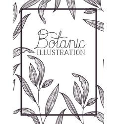 Botanic label with plants vector