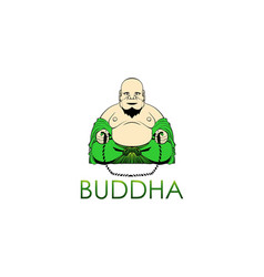 Buddha happy vector