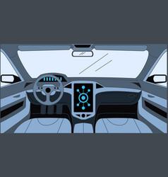 Car interior cartoon outline vector