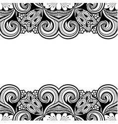 Card template with floral pattern vector