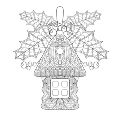 Christmas tree toy vector image