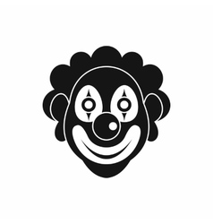 Clown icon simple style vector