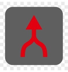 Combine Arrow Up Rounded Square Button vector