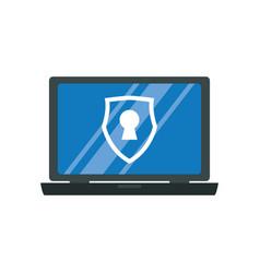 computer lock security privacy vector image